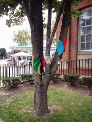 Yellow Springs, OH, tree decoration