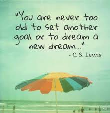 C. S. Lewis' quote on setting goals