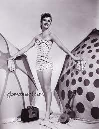Debbie Reynolds, corset style bathing suit